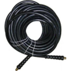 AR Hose (rigid x swivel end w.hose protectors) 25-Foot (3/8) 3000 PSI #AR253830-S-BLK