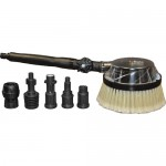 AR Gear Driven Swivel Joint Rotary Brush with Adapters